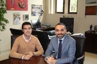 Reunión del vicerrector de Estudiantes y Programas de Movilidad, Alfonso Zamorano y Álvaro prados, donde este informó al vicerrector de sus proyectos y de los logros conseguidos