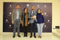 De izqda. a dcha, Antonio Sarsa, Mª Carmen Liñán, Alfonso Zamorano y Soledad Gómez