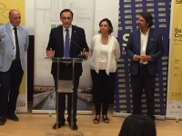 El rector de la Universidad de Córdoba en un momento de su intervención