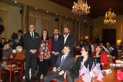 De izquierda a derecha, José Albert, Ana Fernández, Alfonso Zamorano y Manuel Torres en la apertura de UCOMUN