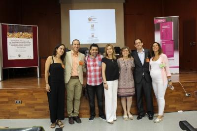 La vicerrectora Rosario Mérida con otras autoridades universitarias y organizadores del Congreso momentos antes de su inauguración