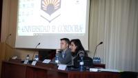 La directora de la EPS de Belmez, Francisca Daza Sánchez, y el subdirector de Calidad y Relaciones Institucionales, Enrique Fernández Ledesma en un momento de la inauguración