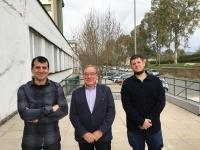 De izquierda a derecha, José Rafael Ruiz, César Jiménez y Daniel Cosano