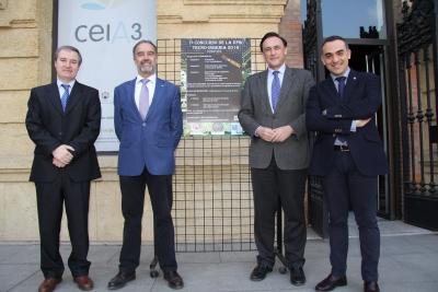 De izquierda a derecha, Matías Liñán, Juan Luna, José Carlos Gómez Villamandos y Alfonso Zamorano.
