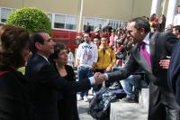 La delegación estadounidense es recibida por el decano de Ciencias de la Educación, Francisco Villamandos