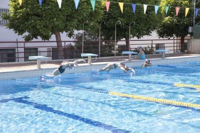 Un momento de la competición de natación