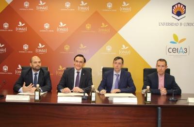 De izquierda a derecha, Enrique Quesada, José Carlos Gómez Villamandos, Salvador Contreras Gila y Manuel Jesús Sutil
