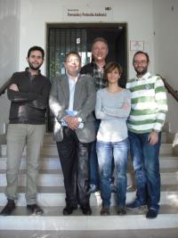De izda. a dcha., Antonio Gomera (UCO), Omar Marroquín (USAC), José Humberto Figueroa (USAC), Clara Guijarro (UCO) y José Emilio Aguilar (UCO).