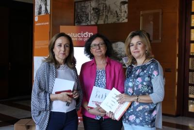 María Rosal, directora de la Unidad de Igualdad; María Teresa Roldán, vicerrectora de Investigación; y Rosario Mérida, vicerrectora de Vida Universitaria y Responsabilidad Social de la Universidad de Córdoba