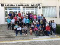 Participantes en la I Ruta de senderismo por Sierra Palacios