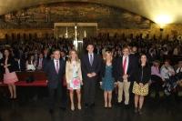 Autoridades en el acto conmemorativo de la Festividad de San Isidro Labrador