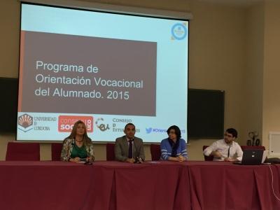 Julia Romero, Alfonso Zamorano, Ana Moreno y Julio Camacho durante la charla