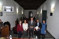De izqda. a dcha., Mº Dolores Muñoz Dueñas, Ángela Cruz Luna, José Carlos Gómez Villamandos, Antonio Bueno Armijo, y Nuria Magaldi Mendaña