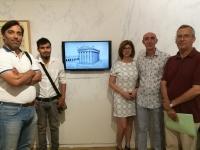 De izquierda a derecha, Monterroso, Arnela (autor del vídeo), Baena, Escudero y Márquez