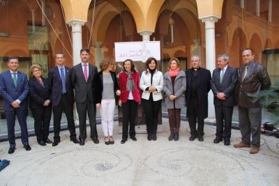 Autoridades que han intervenido en el acto de presentación del programa de actividades.