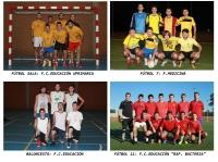 Campeones en las distintas modalidades