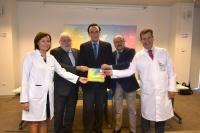 Las autoridades asistentes a la presentación de la memoria científica de 2017.