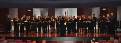 Un momento de la intervención del Coro Manuel de Fala de la Universidad de Granada