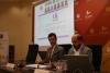 Justo Castaño y Manuel Torres, durante la presentación