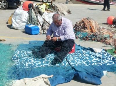 Actividad pesquera en el puerto de Conil de la Frontera ( Cádiz)