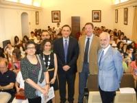 De izq a dcha Mª Luisa Calero, María Martínez-Atienza, Alfonso Zamorano,José Carlos Gómez , Eulalio Sánchez y Salvador Gutiérrez