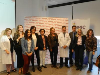 Foto de familia de autoridades y ponentes participantes en la cuarta sesión de #Wehealth