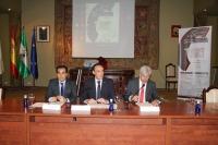 De izquierda a derecha, José Antonio Nieto, José Carlos Gómez Villamandos y Manuel Rebollo, en la clausura del Congreso