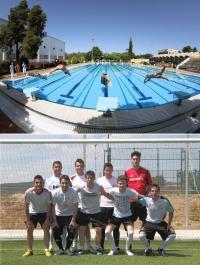 Equipo campeón de futbol 7 y pruebas de natación