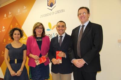 De izquierda a derecha, María Martínez-Atienza de Dios, Julieta Mérida, Alfonso Zamorano y Eulalio Fernández en la presentación de la nueva edición del título