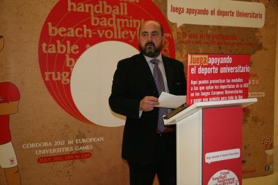 Un momento de la presentación de la campaña 'Juega apoyando al Deporte Universitario'