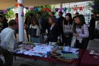 Rosario Mérida y miembros del Área de Cooperación de la UCO durante la visita