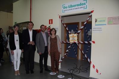 De izquierda a derecha, Marta Domínguez, José Carlos Gómez Villamandos, David Luque y Mª del Mar García Cabrera