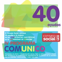 El Consejo Social convoca el IV Programa