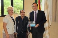 De izda. a dcha., Esperanza Jaqueti, Miguel Martínez y José Carlos Gómez Villamandos