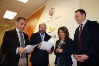 De izda. a dcha., Alfonso Zamorano, Manuel Torres, Manuela Gómez y Eulalio Fernandez.