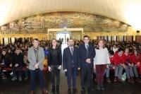 De izqda. a dcha. José Rafael Ruiz, Cristina Yubero, Alfonso Zamorano,  Manuel Blázquez y Carmen Michán.