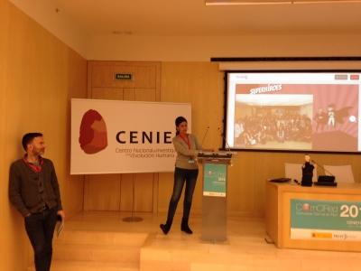Elena Lázaro, coordinadora técnica de la UCC+i, durante la defensa del proyecto