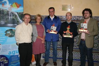 DE izq a dcha Bartolomé Olivares, Carmen Galán,Jesús Cabrera, Ricardo Reques y Manuel Ruiz
