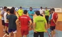 Charla técnica de Manu Navarro en el entrenamiento de ayer