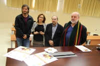 De izquierda a derecha, Pablo Rabasco, María Rosal, Enrique Gálvez y Bernd Dietz en la presentación del seminario