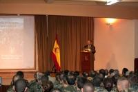 Un momento de la intervención del profesor Córdoba