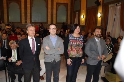 De izquierda a derecha, Rafael Jordano, Paco Morales, Celia Jiménez y Kisko García