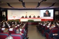 Vista general del salón de actos del Rectorado duranta la celebración de la Junta General de Accionistas de Universia