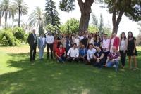 Foto de familia de los participantes en el Campus.
