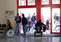 Un momento de los recorridos en silla de ruedas