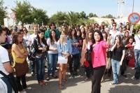 Un momento de la visita guiada al campus de Rabanales