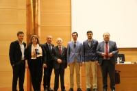 Autoridades y premiados al término del acto conmemorativo de San Isidoro