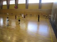Un momento del partido contra la Politécnica de Madrid