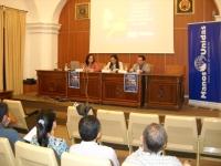 De izq. a dcha. Adela González, Rosa María Romero y Juan de Dios Torralbo
