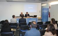 De izquierda a derecha, Antonio Díaz y Juan Ramón Cuadros, durante la presentación de las jornadas